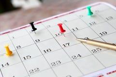 kalendercloseupsida Royaltyfria Foton