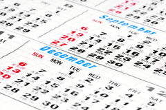 kalenderdagar Arkivbilder