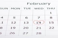 Kalenderfeiertag am 14. Februar Valentinsgruß ` s Tag Stockfotografie