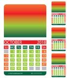 Kalendergitter Herbst Lizenzfreie Stockbilder