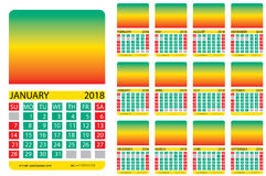 Kalendergitter jamaika Stockfoto