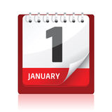Kalenderikone | Rot Lizenzfreie Stockfotografie