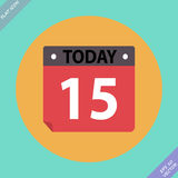 Kalenderikone - vektorabbildung Flaches Design Stockbild