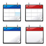 Kalenderikonen Lizenzfreie Stockfotos