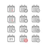 Kalenderikonen eingestellt Stockfoto