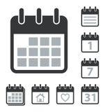 Kalenderikonen eingestellt Stockbilder