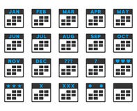 Kalendermånader symbol royaltyfri illustrationer