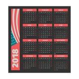 Kalendermall 2018 Royaltyfri Bild
