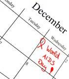 Kalendermarkierung Lizenzfreies Stockbild