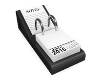 Kalendermars 2016 Arkivbild