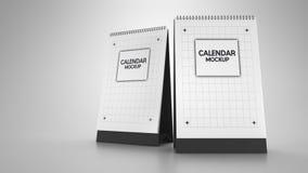 Kalendermodell royaltyfri illustrationer