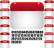 Kalendermonatikone Lizenzfreies Stockbild