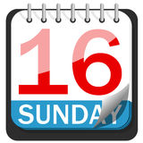 Kalendern easter 2017 16th söndag isolerade Royaltyfria Bilder
