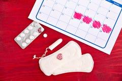 Kalendern för räkna för menstruation royaltyfri foto