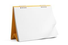 kalendern kan den själva bilden för det märkes- skrivbordet lägga på nödvändiga ark Arkivbild