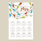 Kalendernet voor 2016 Stock Afbeeldingen