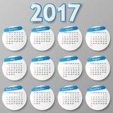Kalenderontwerp Vector illustratie Stock Foto