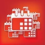 Kalenderorganisator-Netzikone Lizenzfreie Stockbilder