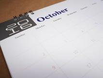 Kalenderpagina 10 Royalty-vrije Stock Fotografie