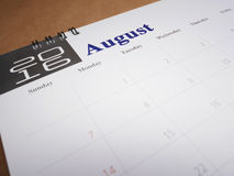 Kalenderpagina 8 Stock Foto