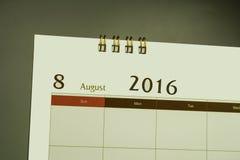 Kalenderpagina van maand 2016 Royalty-vrije Stock Afbeelding