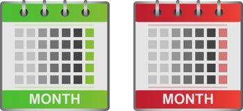 Kalenderpictogrammen Stock Foto's