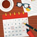 Kalenderplanläggning Vektorbegrepp background stock illustrationer