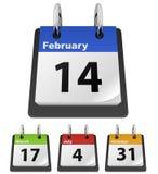 Kalenderschablone Lizenzfreies Stockfoto