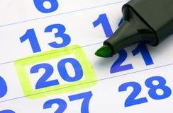 Kalenderseite Lizenzfreie Stockfotos
