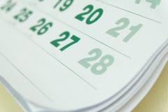 Kalenderseite 2017 Stockbilder