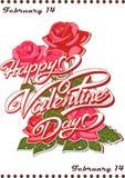 Kalenderseite - glücklicher Valentinstag! Am 14. Februar lizenzfreie abbildung