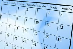 kalendersida Royaltyfri Bild
