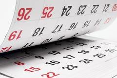 kalendersidor Royaltyfri Fotografi