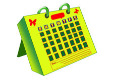 kalenderskrivbord Arkivbild