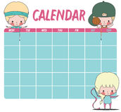 Kalendersportkinder Lizenzfreie Stockfotos