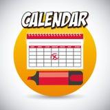 Kalendersymbol app Royaltyfri Foto
