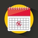 Kalendersymbol app Royaltyfri Bild
