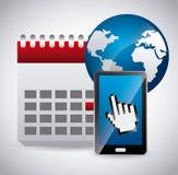 Kalendersymbol app Royaltyfria Bilder