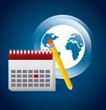 Kalendersymbol app Arkivfoto