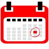 Kalendersymbol med påminnelse royaltyfri illustrationer