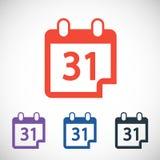 Kalendersymbol, vektorillustration Plan design Arkivfoton