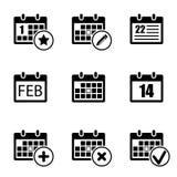 Kalendersymbolsuppsättning Arkivbild