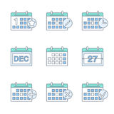 Kalendersymbolsuppsättning Royaltyfri Bild