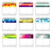 kalendersymbolsvägg Fotografering för Bildbyråer