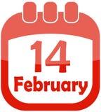 kalendersymbolsvalentin Royaltyfri Fotografi