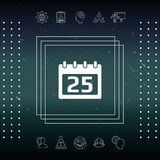 Kalendersymbolsymbol Arkivfoto