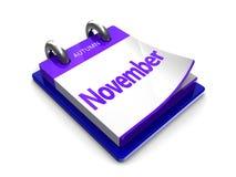 Kalendertag ist November Stockfoto