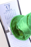 Kalendertag St. Patricks Tages Stockbild