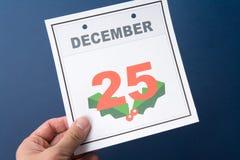 Kalendertag-Weihnachten Lizenzfreies Stockfoto