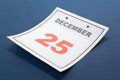 Kalendertag-Weihnachten Stockfotografie
